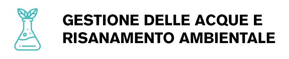 Logo indirizzo gestione delle acque e risanamento ambientale