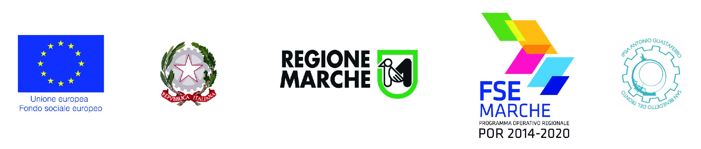 Loghi UE italia regione marche fse e ipsia guastaferro