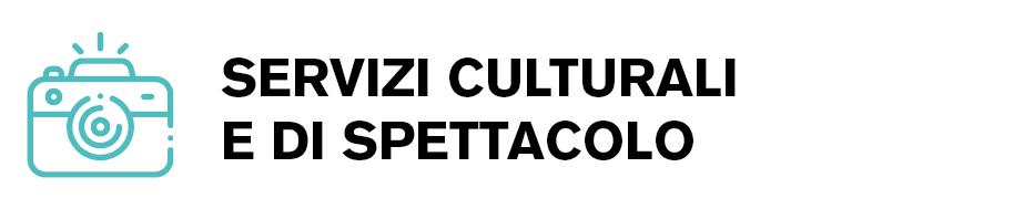 Icona settore servizi culturali e di spettacolo
