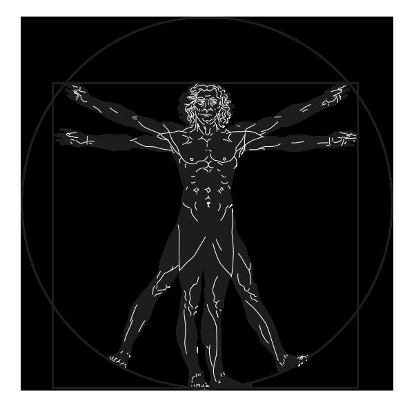 Logo uomo vitruviano
