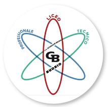 Logo dell'Istituto Istruzione superiore giordano bruto, immagine raffigurante un atomo