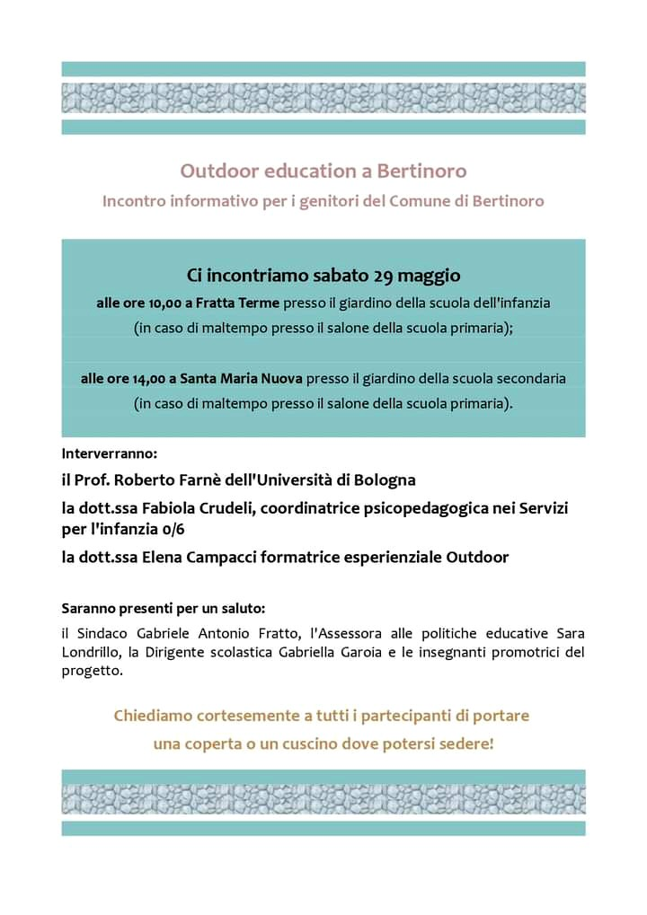 Locandina outdoor education